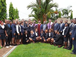 A cross-section of JSFP students and staff at Matriculation Ceremony